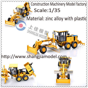 diecast grader model,scale construction machinery model, diecast land scraper