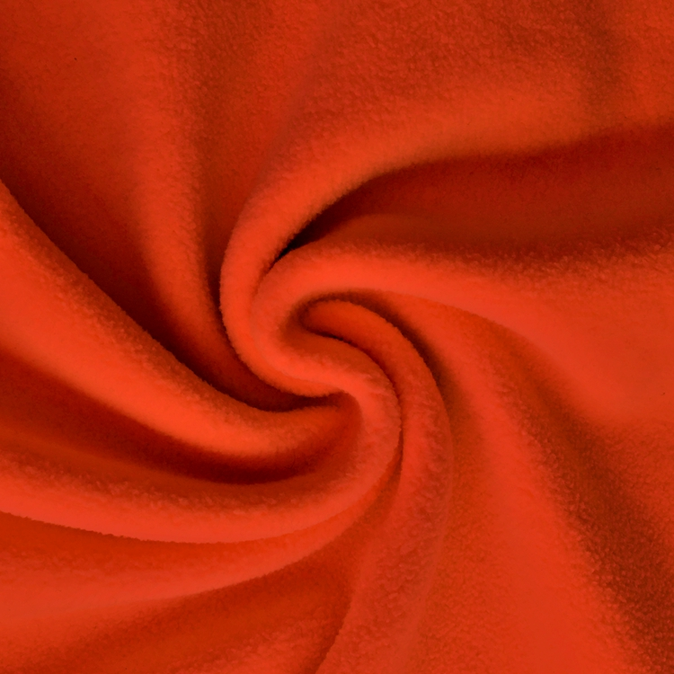 China manufacturer 100% polyester orange dyed cheap polar fleece fabric