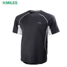 2017 sport wear Spandex / Polyester sports gym shirt jogging running top