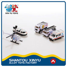Ali express vehicle set alloy China model toy cars metal with helicopter