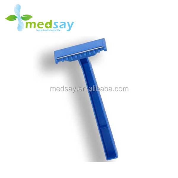 Twin blade disposable medical hospital razor