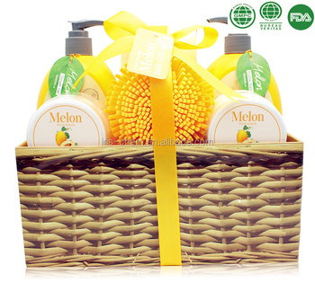 Fresh Melon Gift Set Wooden Box Spa Set Best Wedding, Anniversary, Birthday or Mother's day