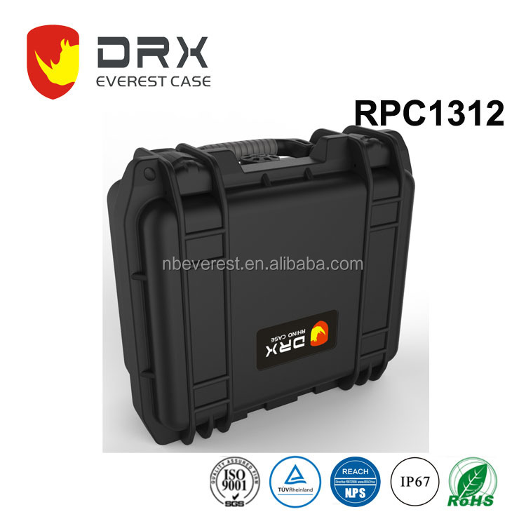IP67 customized logo plastic equipment anti-dust carrying tool case with foam insert