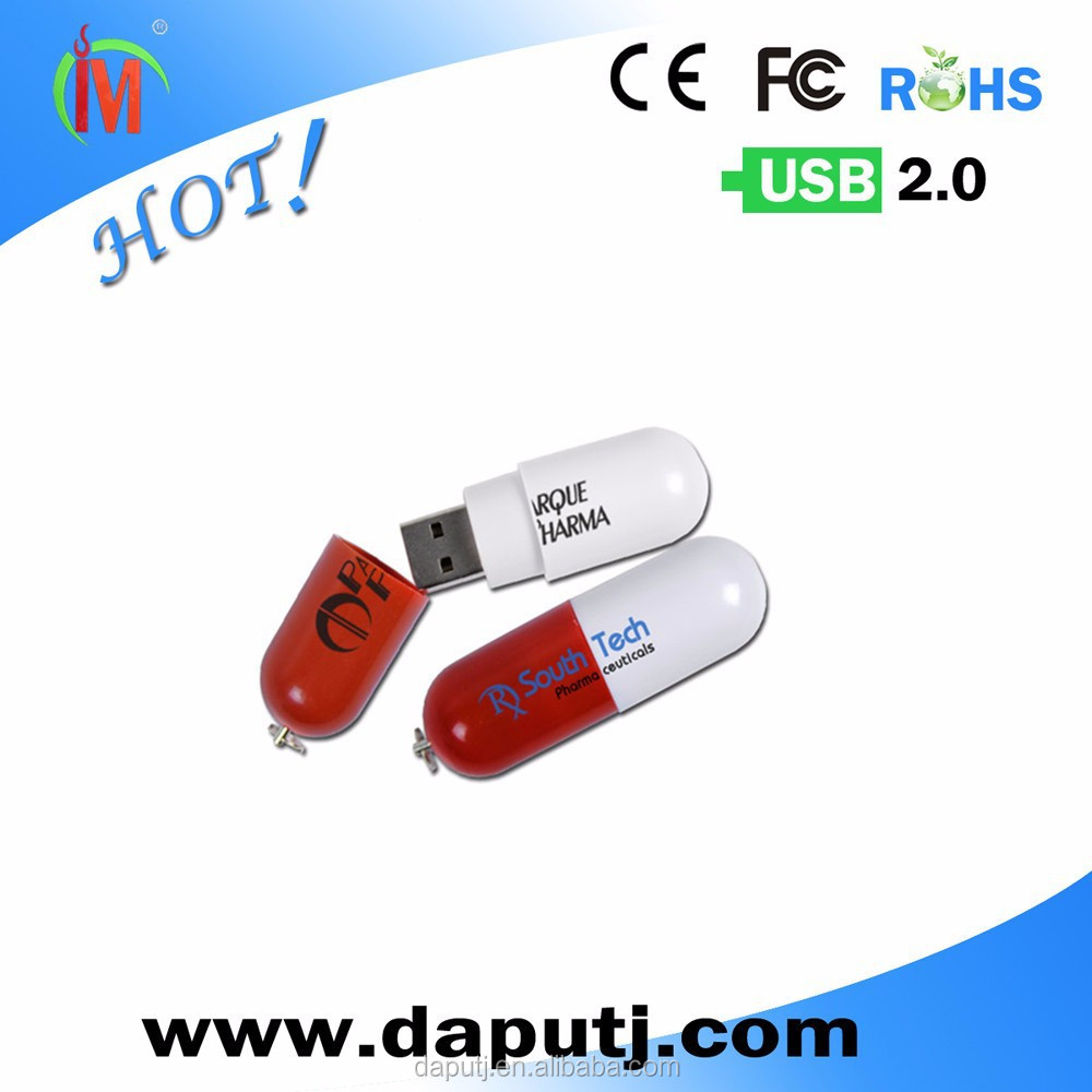 Free logo medical gifts pill shape usb stick usb 2.0 driver