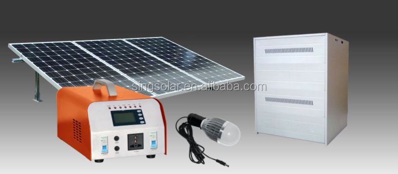 500W Portable AC Solar Generater, Solar Home Energy Power System with Lithium-ion Batteries