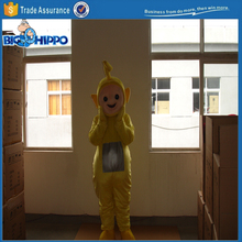 Yellow teletubby cute tv show cartoon character high quality custom mascot costume
