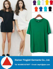 2013 Hotselling Solid Colour Korean Lady Tee/Women T-shirt
