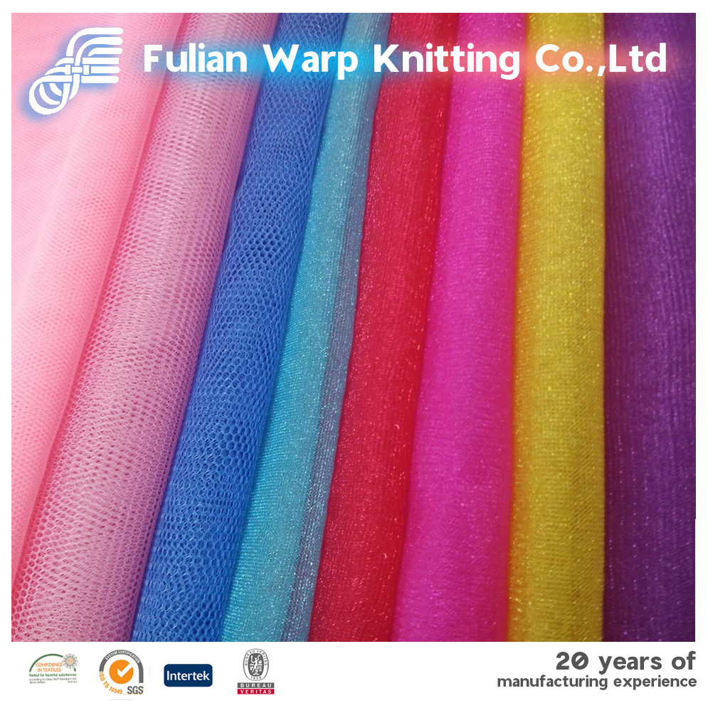 100% nylon warp knitting mesh fabric for children dress