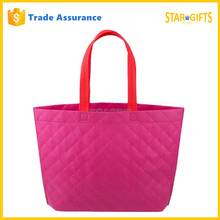 Fashion Large Natural Non-Woven Reusable Shopping Tote Bag In Pink