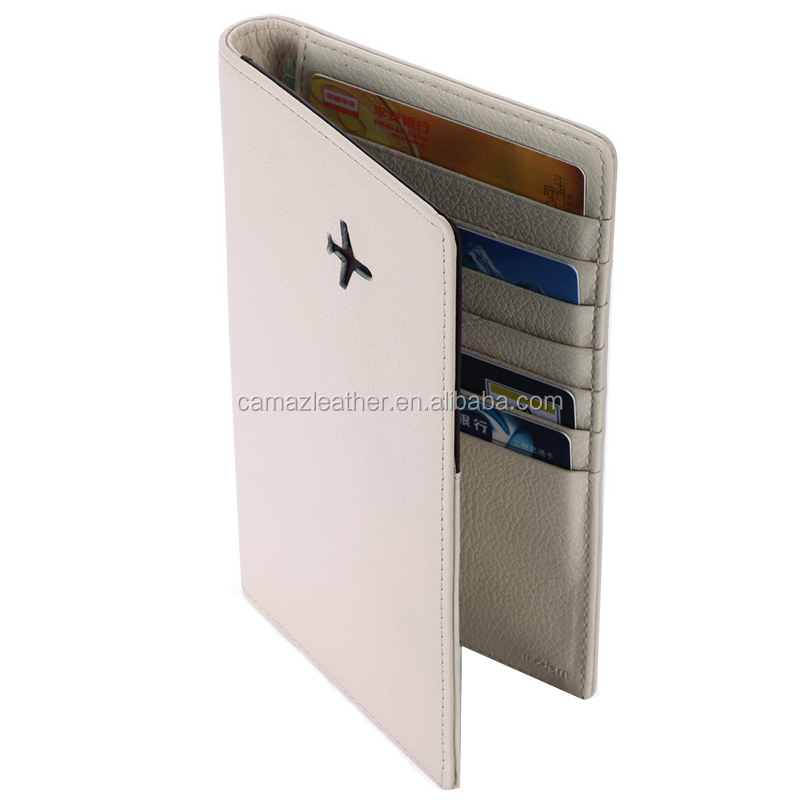 Custom multi-funtion leather travel wallet passport holder wallet