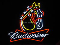 factory price kinds of budweiser neon beer sign, neon light for advertising