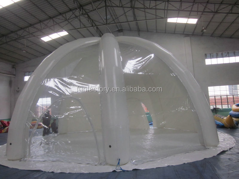 white transparent inflatable round tent,inflatable tennis court tent