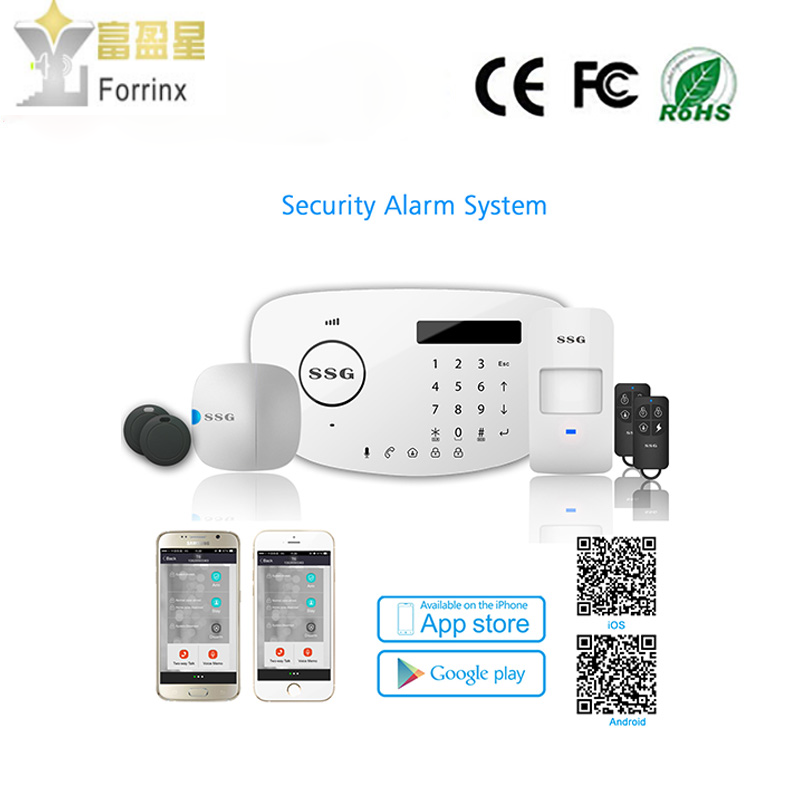 GSM PSTN Dual Network Home Wireless anti-theft Alarm System,work with Amazon Alexa ,App control