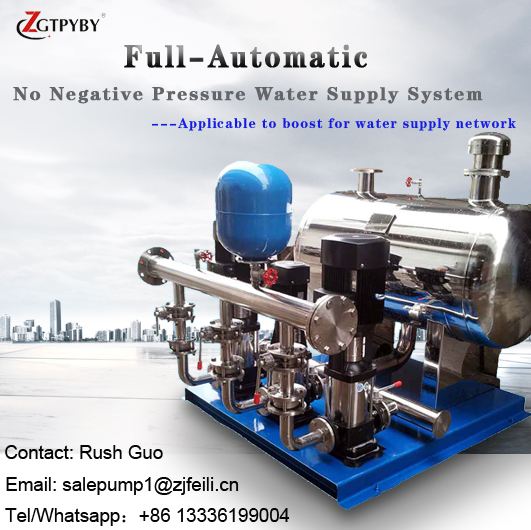 stainless steel multistage centrifugal pump vertical inline pump booster pump system for water supply