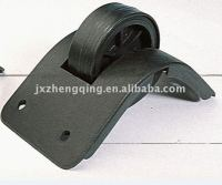 ZQ-WD7 58/68mm Plastic Rubber Luggage Trolley Wheel