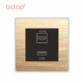 Fashion Aluminum Champagne Touch Switch New For Hotel Projects