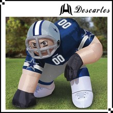 2016 PVC nfl inflatable player lawn figure/inflatable bubba player for advertiising