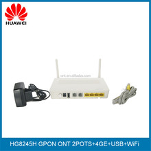 Original Huawei GPON ONT HG8245H 4GE+2VOICE+WIFI English Firmware DHCP Support Router Retail Version