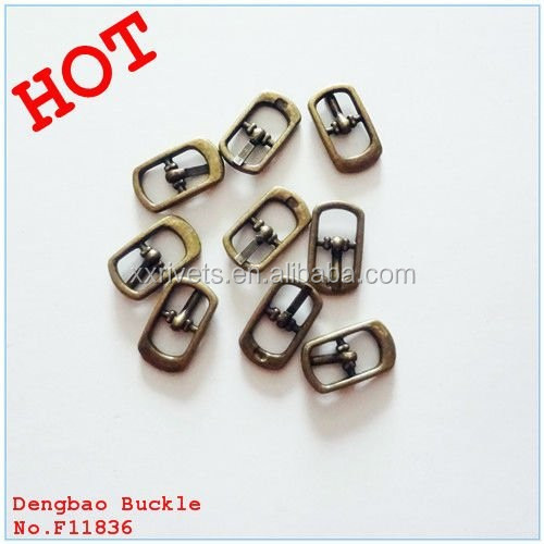2015 antique brass small shoe pin buckles