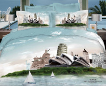 Luxury 3d bedding sets 100% cotton twill printing bedding set cheap king size kid bed sheet set