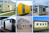 20ft flat pack container house as toilets/prefab container homes for office/steel structure container house