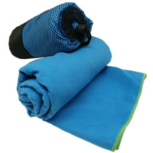 High absobent microfiber lightweight quick dry sport towel with pouch