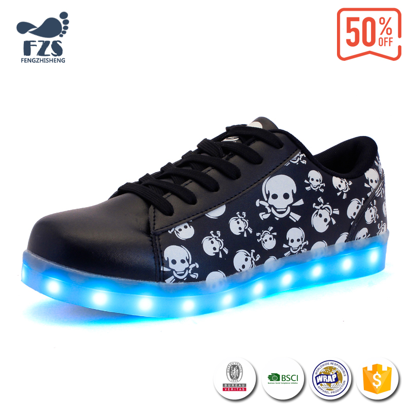 adults flashing snaker led shoes for men