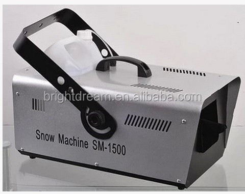 Remote control 1500W snow machine for stage light effect with disco