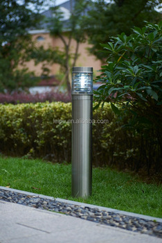 round big size modern stainless steel bollard light garden lawn light