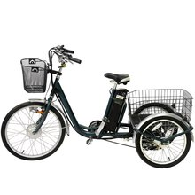 250W 3 wheel bike pedal assisted electric tricycle with lithium battery kenda tire for cargo