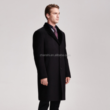 Latest Design Cheap Fashion 80% wool / 15% polyester Coat for men