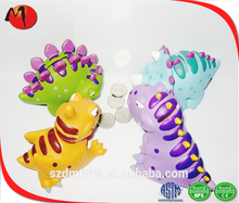colorful 3d animal design plastic pvc dinosaur money bank