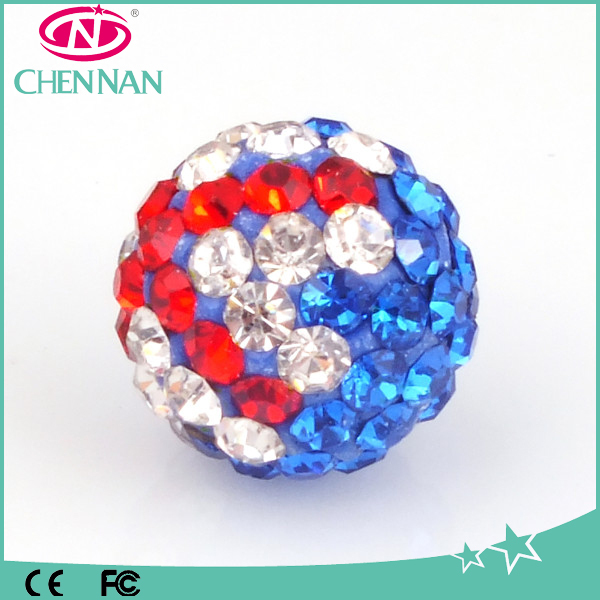 Factory Price Shamballa Mixed Color rhinestone jewelry pave beads