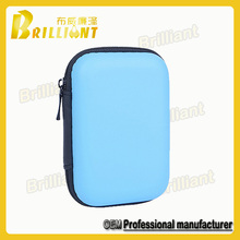 E-cigarette plastic zipper eva case with mesh porket
