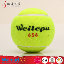 hot selling different types sports ball,cheap promotion tennis ball with yellow wool pressurized