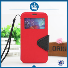 LZB Fashion color contrast series view windows high quality stand cover for Samsung galaxy win i8552 case