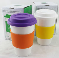 Good For Travel Cup ceramic double wall travel mug with silicone lid