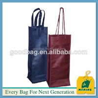 customized image non woven wine bottle carry bag