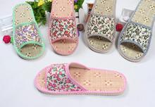 Uniseason Cute Design Straw Material Women Home Industri Sandal