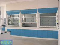 Portable fume hood in laboratory furniture