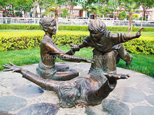 copper/brass man and woman statue sculpture for garden decoration