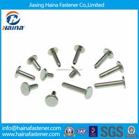 DIN6791Stock Stainless Steel Semi Tubular Rivets/Hollow Tubular Rivets