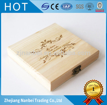 Custom logo double cd wooden packaging box dvd storage boxes