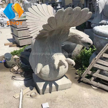 Natural eagle stone carvings
