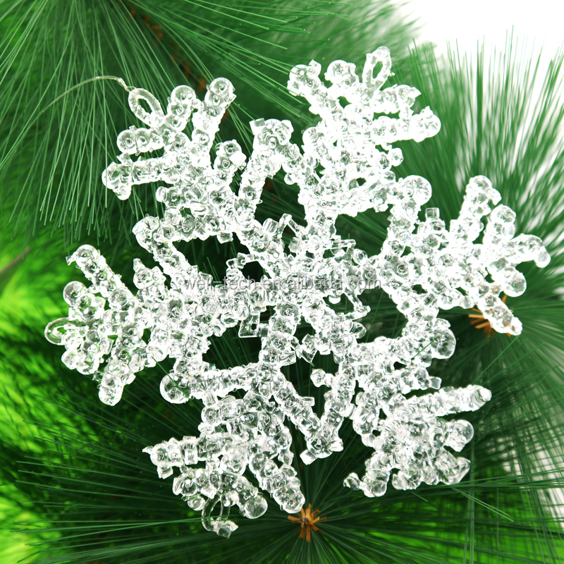 "Christmas 5.5"" clear snowflake ornament Christmas snowflake Decorations"