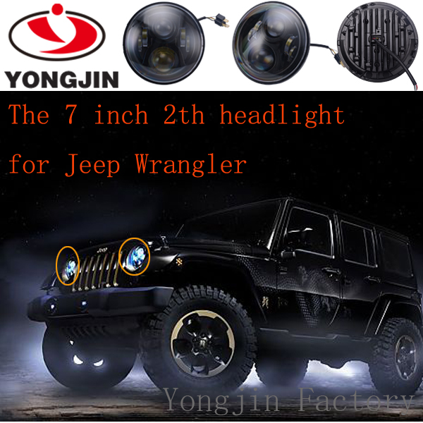 7inch led headlight car LED front light for jeep wrangler JK harley with H4 H13 connector