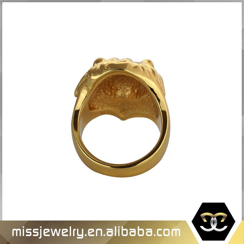 Missjewelry ID MJHPR001 Custom Made Fine 925 Sterling Sliver gold lion of judah ring