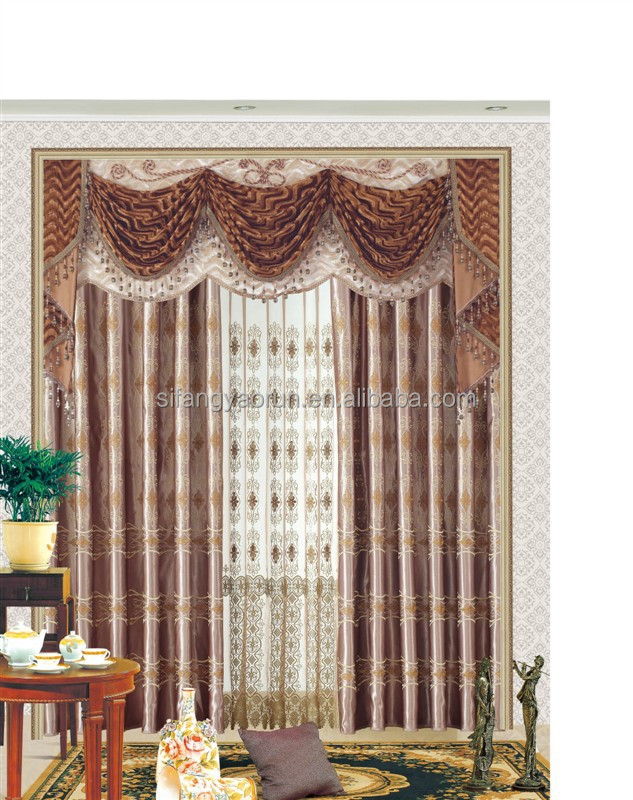 2014new luxury cafe living room curtain