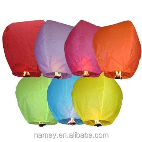 Wholesale Flying Chinese Floating Hot Air Balloon Sky Lanterns