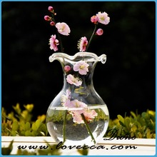 Plant decoration whlesale handbwon art glass flower vase